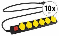 10x Set Steckdosenleiste 6-fach Mehrfachstecker Mehrfachsteckdose Outdoor IP44