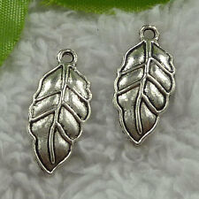 free ship 150 pcs tibet silver leaves charms 24x10mm #3646
