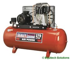 Sealey Tools SAC52775B Air Compressor 270 Litre 3 Phase 415V Belt Drive 7.5HP