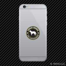 Proud Owner Curly Coated Retriever Cell Phone Sticker Mobile Die Cut