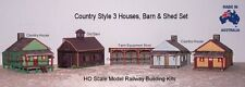 HO Scale Houses Barn Equipment Shed 5 Buildings Model Railway Building Kit 3HBS1