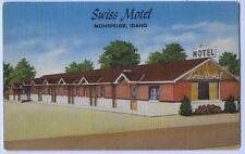 Vintage Linen Swiss Motel MontPelier Idaho Postcard