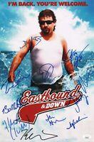 """EASTBOUND & DOWN Cast(x10) Authentic Signed """"Danny McBride"""" 11x17 Photo JSA COA"""