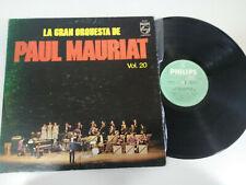 """Paul Mauriat Vol 20 La Gran Orquesta 1972 Philips - LP 12"""" Vinilo G+/VG"""