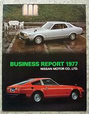 NISSAN MOTOR CO. LTD Company Business Report 1977 FAIRLADY Z (280Z) Sunny PULSAR