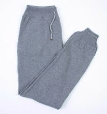 Brunello Cucinelli 100% Cashmere heavy knit Grey Sweatpants Size XL NEW