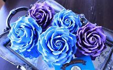 MEDIUM Handmade Edible Single Sugar Rose Flower Cake Toppers