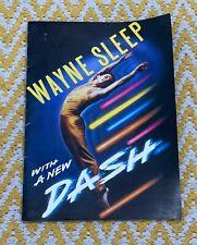 Wayne Sleep With A New Dash Sadlers Wells Theatre Programme 1982 Dance