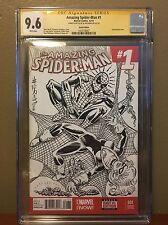 Al Milgrom Sketch Commission CGC SS Spiderman & Black Cat Sketch Cover Comic Art