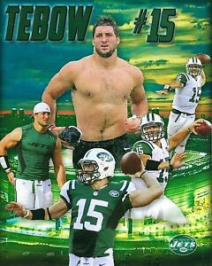 TIM TEBOW 8X10 PHOTO NEW YORK JETS NY NFL FOOTBALL COLLAGE #15 QUARTERBACK