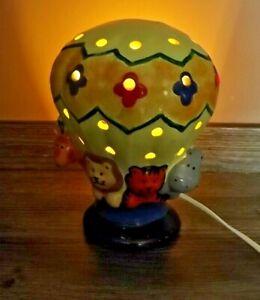 Piggery Pottery Hand Made Hot Air Animal Balloon Children's Night Light/Lamp