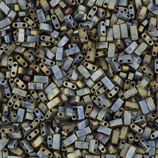 Miyuki metà TILA BEADS Opaco Argento Metallico Grigio - 5mm 7,8 G TUBO (K89 / 3)