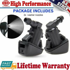 2PCS Windshield Wiper Washer Jet Nozzle For 2008 2009 2010 Ford F250-350-450-550