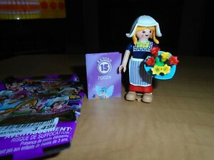 Playmobil 70026 serie15 Girl woman, dutch tulip seller, never play,complete