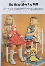 Sewing pattern Jean Greenhowe adaptable poupée Topsy Turvey 3 poupées jouet 46 cm