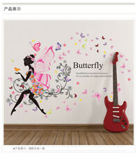 Wall Sticker Removable PVC Flower Fairy Girls Wall Decals Art Stickers DIY