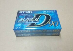 AUDIOCASSETTA cassetta audio PACK 2 pezzi TDK D 90 super position chrome NUOVE