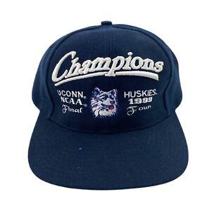 Vintage 1999 NCAA UCONN Huskies National Champions Snapback Hat
