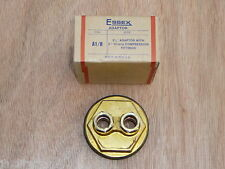 """Essex Adaptor Plug 21/4"""" c/w 2 x 15mm Compression Fittings A1/R Flange 21/4 x 15"""