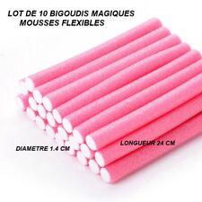LOT 10 BIGOUDIS ROULEAUX  MOUSSE MAGIQUE COIFFURE MISE EN PLIS BOUCLE BIG807