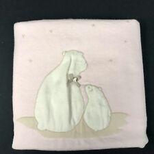 Tartine et Chocolat Baby Blanket Hedgehogs Cotton Cashmere Blend Pink Stars