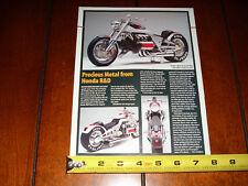 HONDA R&D GL1800 TL CONCEPT BIKE MIKE McCLUSKEY - ORIGINAL 2001 ARTICLE