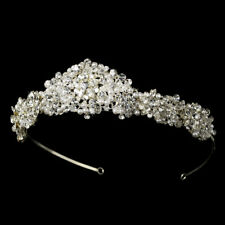 Tiara #8126 Pearl and Swarovski Crystal Bridal Headpiece