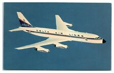 1967 Delta Air Lines Convair 880 Airplane Postcard