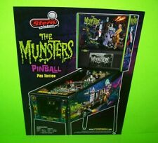 The Munsters Pinball FLYER Pro Original Horror Halloween Gothic Game Artwork