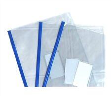 3 Blue Tallon Zip Document Wallet A4 School Office Paper Cover Storage Zipper