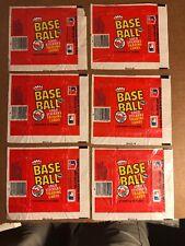 Fleer Baseball Wax Wrappers, 1982, 6 Total