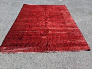 Antique Afghan Rug, Turkoman Rug, Hand Knotted Sheraz Rug, Boho Rug