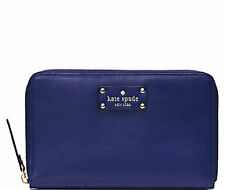 Kate Spade New York Wallet Travel Wellesley Emperor Blue NEW $248
