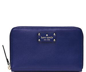Kate Spade New York Wallet Travel Wellesley Emperor Blue NEW $248