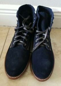 Wolverine 1000 Mile Navy Suede Boots - USA