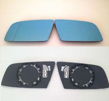 Spiegelglas Außenspiegel BMW 5er E60 E61 6er E63 blau beheizt links + rechts Set