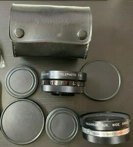 Yashica Yashikor AUX Telephoto and Wide Angle 1:4 Lens 55mm rear threads -2 Lens