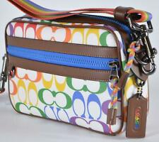 Coach 2485 Rainbow Pride Signature Canvas Graham Crossbody Purse Bag