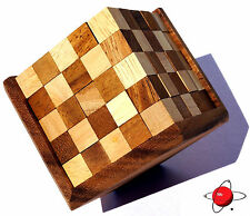 TETROMINOES - Wood Chess Puzzle Brain Teaser Wooden Rompecabeza Noggin Busters