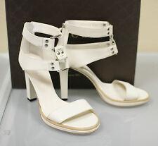 $675 New GUCCI Gladiator Leather Platform Pumps Sandals 37.5/7.5 257919 9022