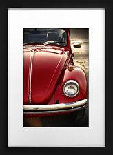 1973 Volkswagen Beetle Photo Print 13x19 Mancave Art Bug VW Red 73 74 Poster