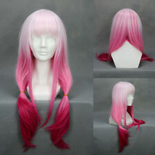 "26"" 65cm Gradient Light Pink to Fushia Guilty Crown Yuzuriha Inori Cosplay Wig"