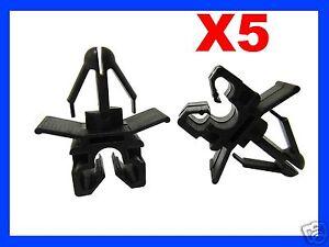 5 single brake pipe line cable holder clips maximum diameter 7mm