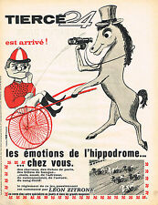 PUBLICITE ADVERTISING  1965   TIERCE 24 LEON ZITRONE jeux jouets