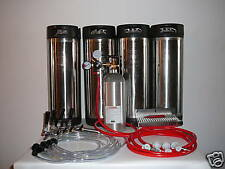 Home Brewing Four Tap Kegerator Conversion Kit With Four Pin Lock Corny Kegs