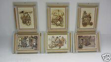 Anton Pieck 3D Druck Set 6 Bilder Vintage Print Holland '60/'70 Geschenk Idee
