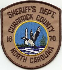 CURRITUCK COUNTY NORTH CAROLINA NC Brown DUCK LIGHTHOUSE SHERIFF POLICE PATCH