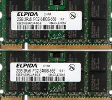 4GB 2x 2GB Kit PC2-6400 Laptop Memory HP Part# 509410-002 513766-001 598858-001