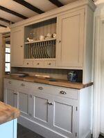 6ft Handmade Painted Welsh Kitchen Dresser (Solid Wood Bespoke)