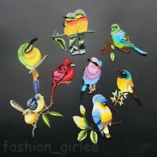 New Random 1PC Bird Embroidered Applique Iron On Patch DIY Sewing On Patch Badge